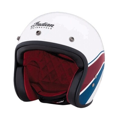 STRIPE OPEN HELMET WHITE