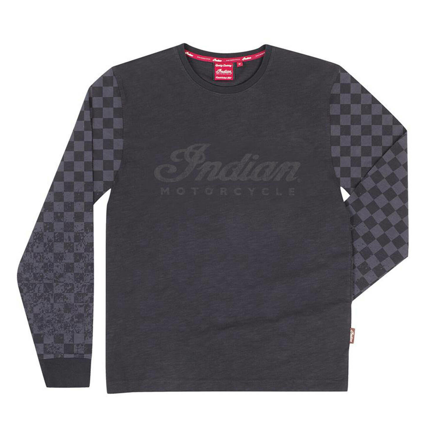 LONG SLEEVE CHECKERED TEE