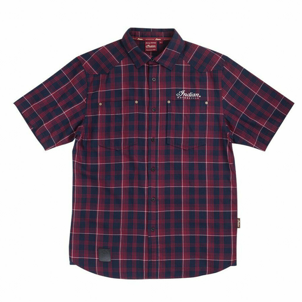 SS PLAID SHIRT RED
