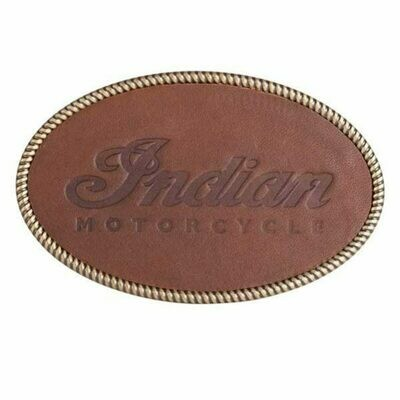 EMBOSSED LEATHER BELT BUCKLE