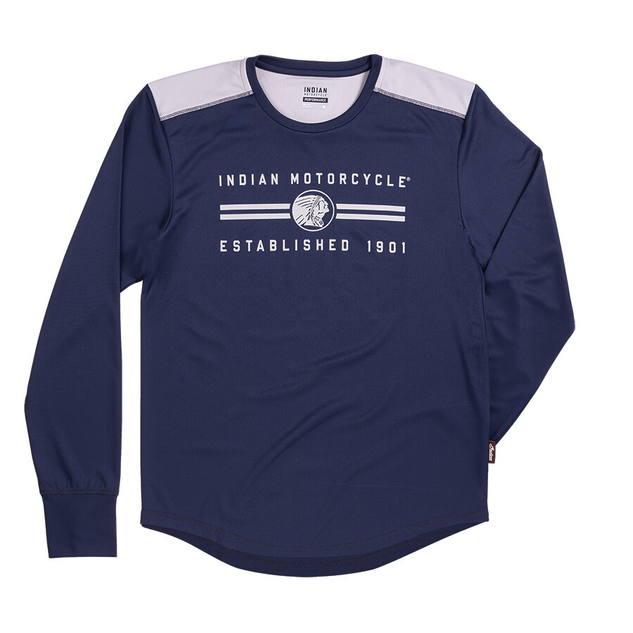 MENS LS NAVY PERFORMANCE TEE