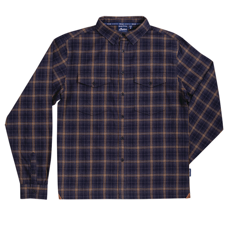 MENS TWIN POCKET PLAID SHIRT