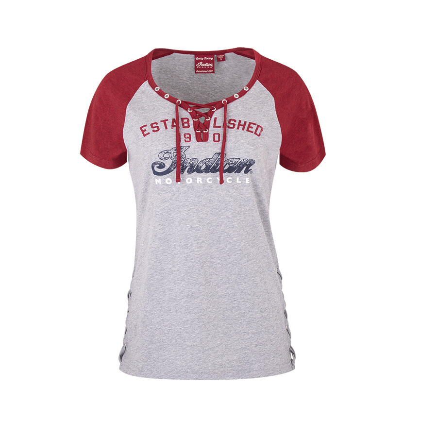 WOMENS LACED UP TEE