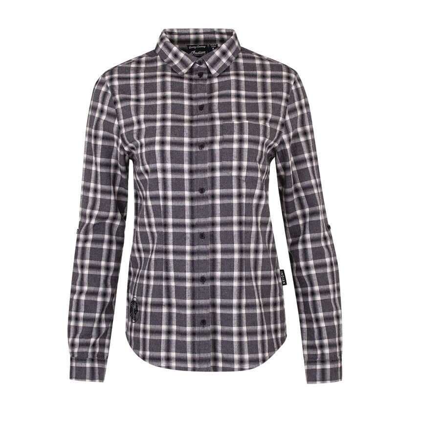 WOMENS BLACK & WHITE PLAID SHIRT
