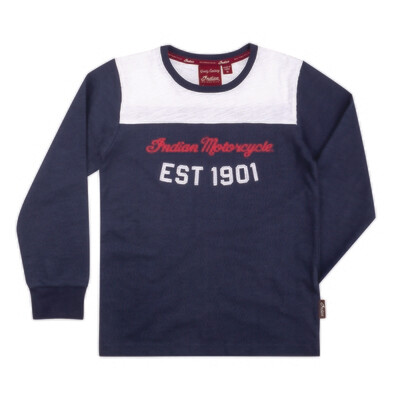 KIDS LS RETRO TEE, BLUE