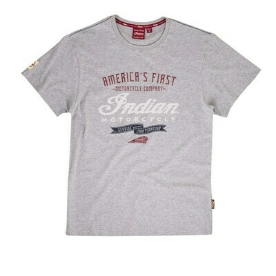 MENS GRAY CRAFTED TEE