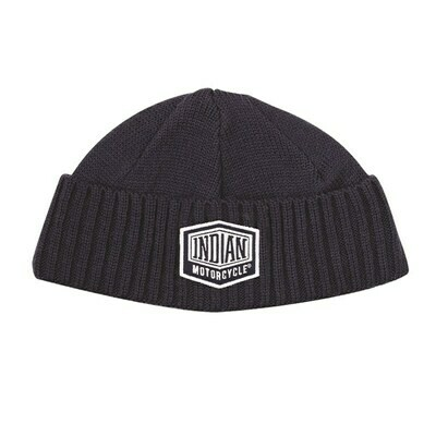 MENS SHIELD PATCH BEANIE BLAU