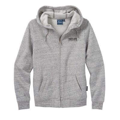 Hoodie-Sweatshirt mit Strukturlogo, grau