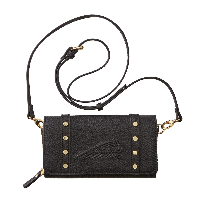 Handtasche aus Leder, schwarz