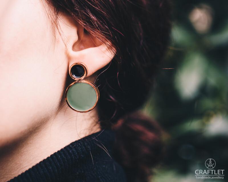 Sparkle Resin Double Earrings