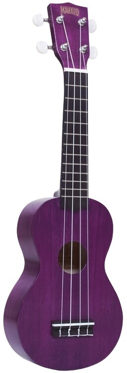 Mahalo Kahiko Plus Series Ukulele, Trans Purple