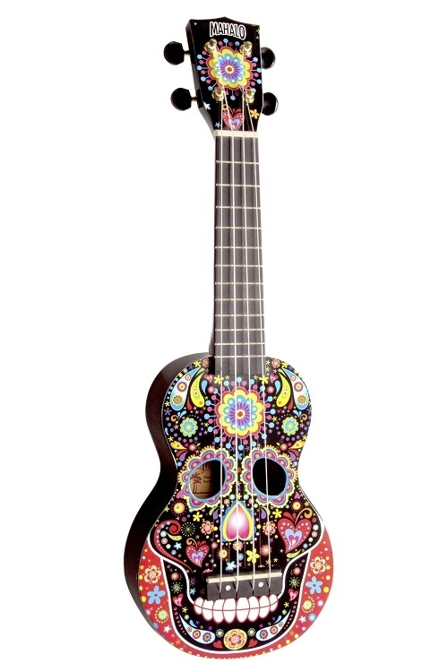 Mahalo Art Series Day of the Dead Soprano Ukulele