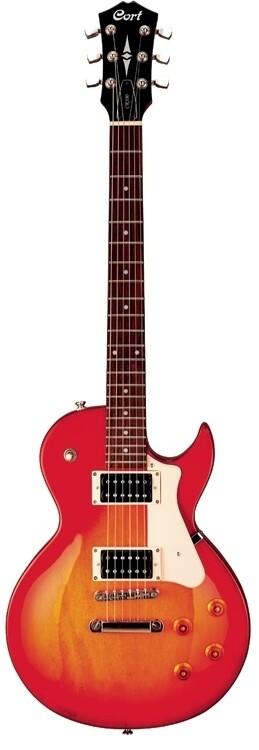 Cort CR100 Electric Guitar, Cherry Red Sunburst