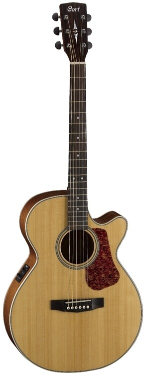 Cort L100F A/E, Solid Spruce Top, Natural Satin