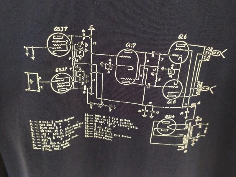 Amp Schematic T Shirt