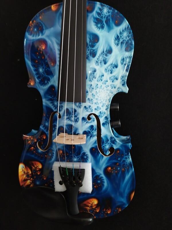 Geneva Blue Pearl Visual Art Electric Violin