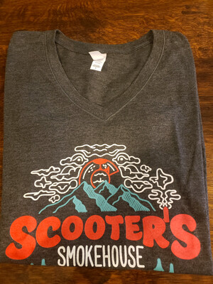 SCOOTER'S LADIES V-NECK T-SHIRTS