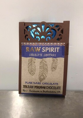 Raw Spirit Chocolate company Plain Dark Chocolate