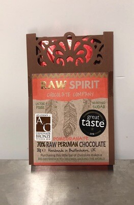 Raw Spirit Chocolate Company Pomegranate