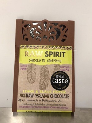 Raw Spirit Chocolate Company Lemon & Black Pepper