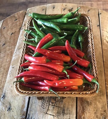 Chillies Red/Green 100g