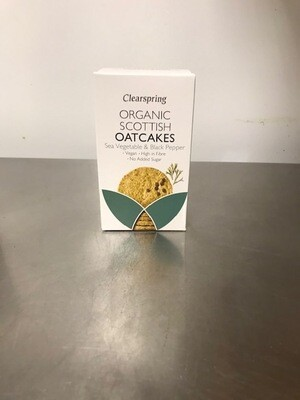 Clearspring Sea Veg & Black Pepper Oatcakes 200gr