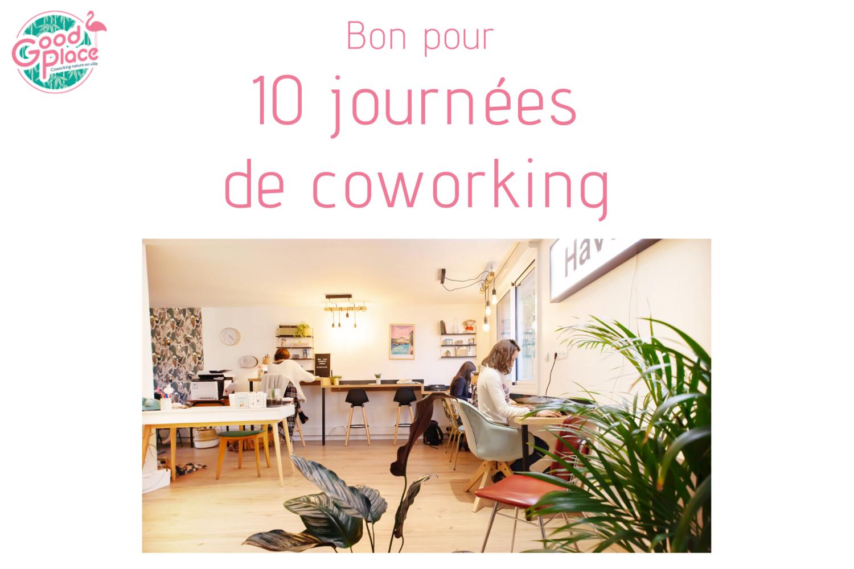 Bon pour 10 journées de coworking