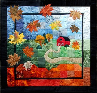 Autumn Breeze Quilted Wall Hanging