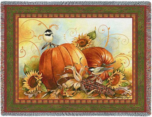 Joyful Harvest Tapestry Blanket