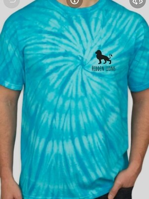 *Preorder Now* T-Shirt Blue Tie Dye - Back Sketched