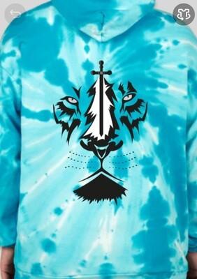 *Coming Soon* Hoodie Blue Tie Dye - Back Sketched