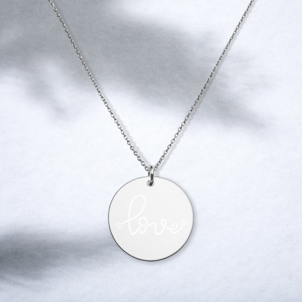 Necklace Silver - Love Engraved