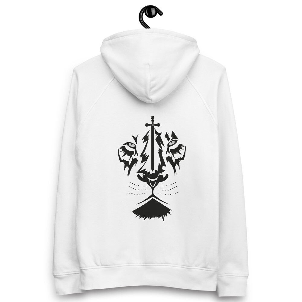 Hoodie Pullover White - Back Sketched