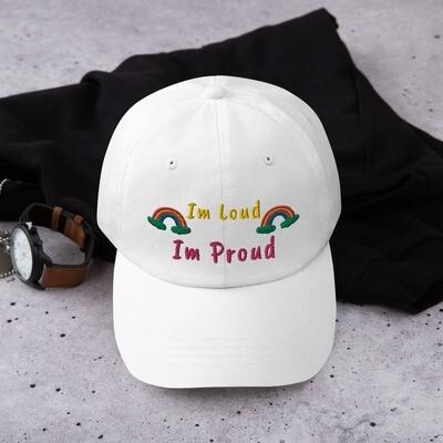 Hat / Cap White - Im Loud Im Proud