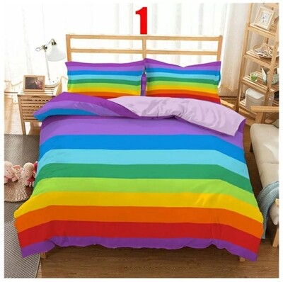 Comforter Bedding Sets Rainbow #1 - Printed Stripped