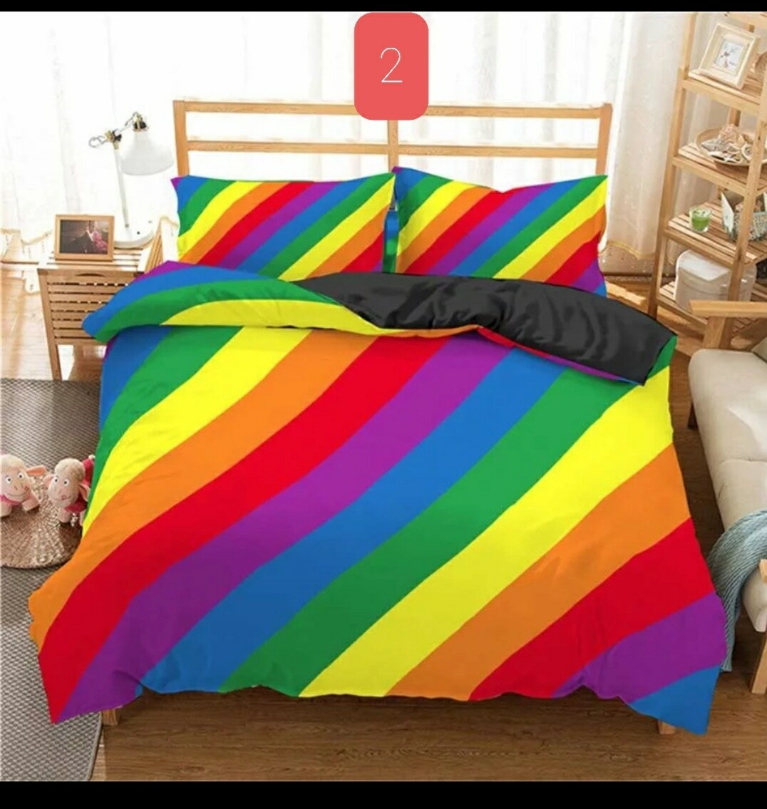 Comforter Bedding Sets Rainbow #2 - Printed Stripped