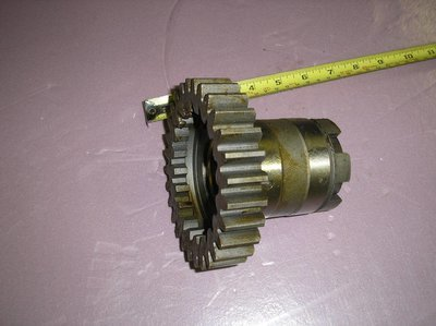 Sliding gear, first and reverse