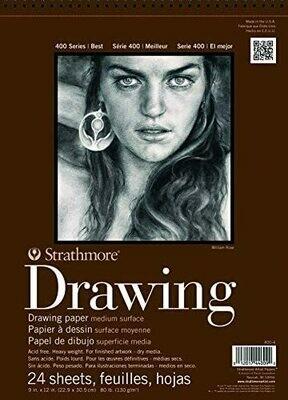 Strathmore 400 Series Drawing Paper Medium Surface, 80lb
