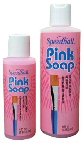 Pink Soap Brush Cleaner