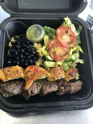 Steak and Chicken Skewers