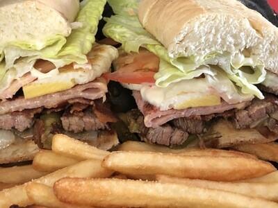 Loaded Steak Sandwich ( AKA- Chivito)
