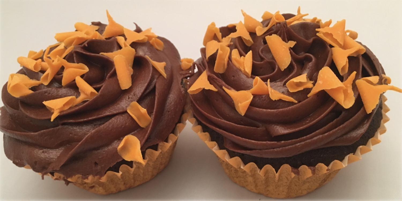 Chocolate Orange Cupcakes (2 pack)