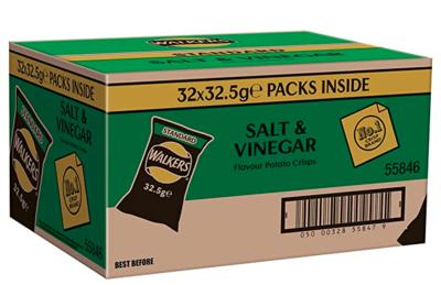Salt & Vinegar Crisps - Box of 32