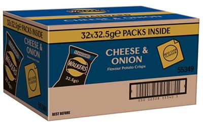 Cheese & Onion Crisps - Box of 32