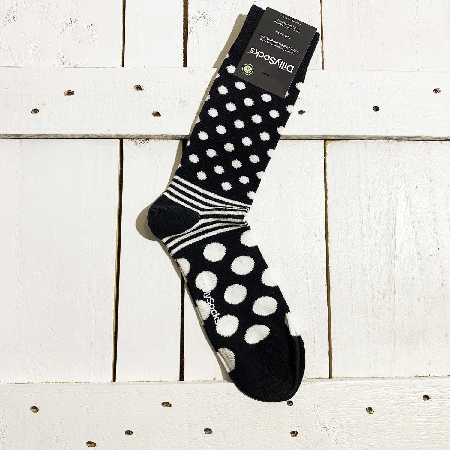 Dilly Socks – White Dots