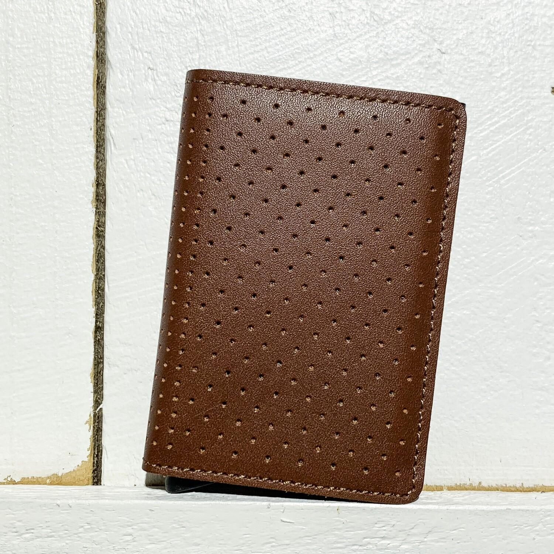SECRID –  Slimwallet Perforated Cognac