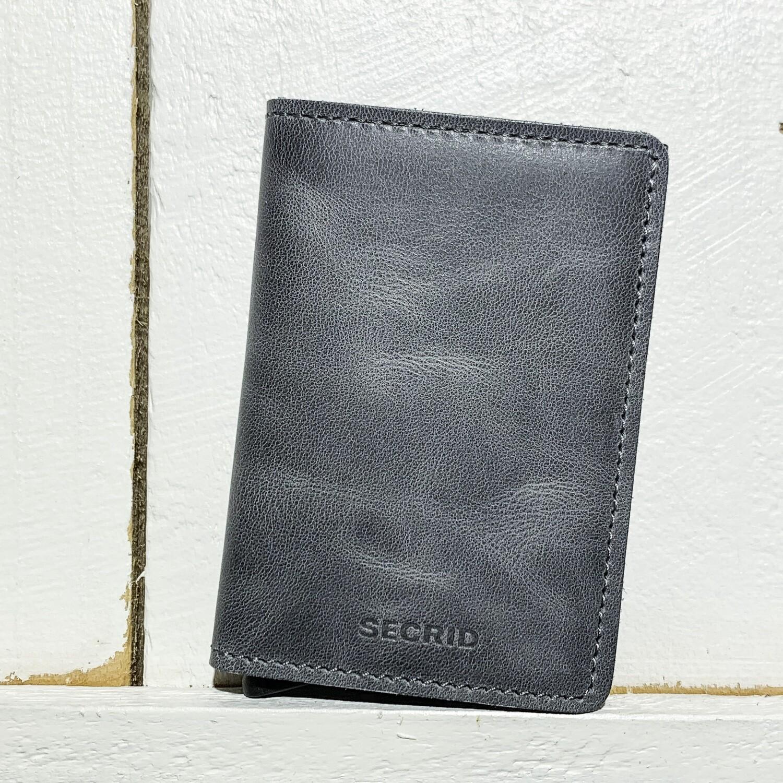 SECRID –  Slimwallet Vintage Grey Black