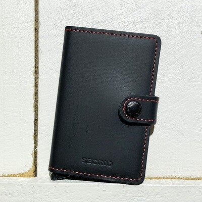 SECRID –  Miniwallet Matte Black Red