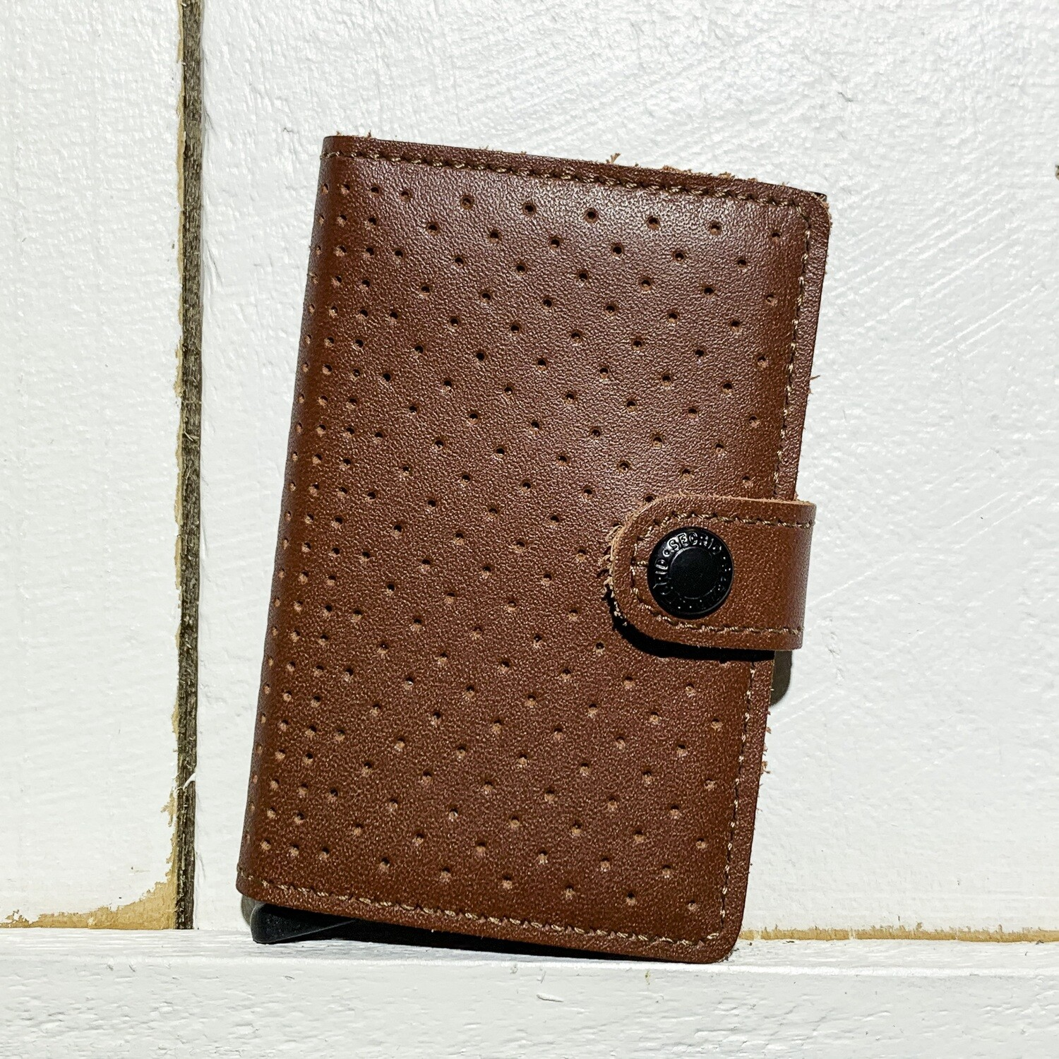 SECRID –  Miniwallet Perforated Cognac