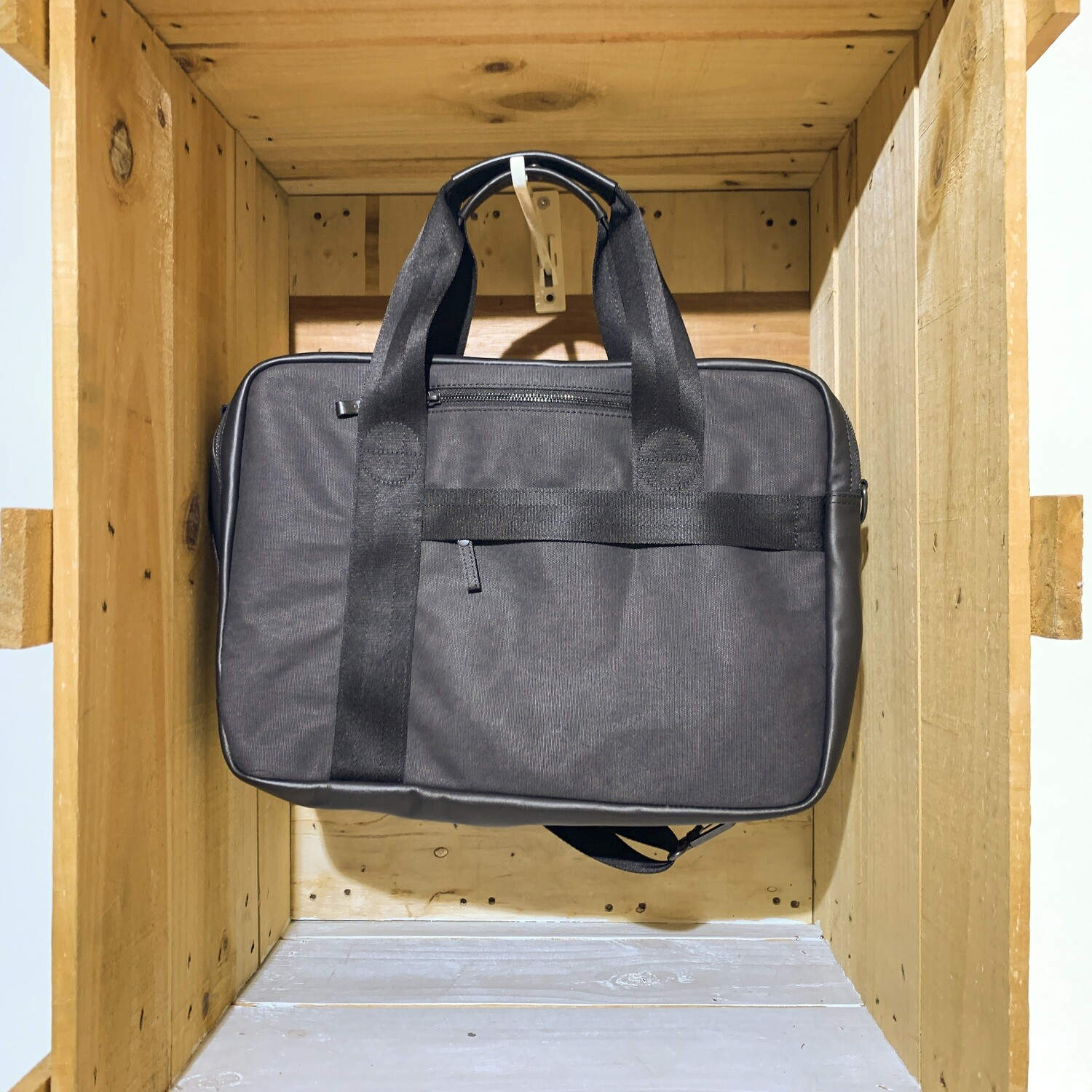 QWSTION – Office Bag Graphite Leather